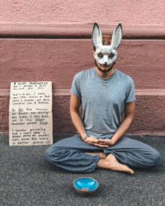 Meditating during my homeless social experiment